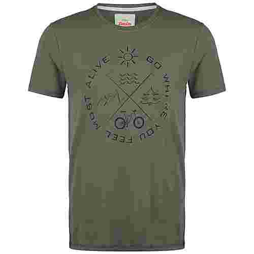 VAN ONE Most Alive T-Shirt Herren oliv / schwarz