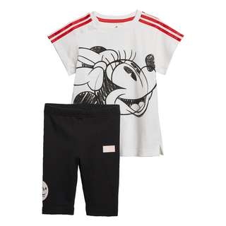 adidas Minnie Mouse Sommer-Set Trainingsanzug Kinder White / Vivid Red