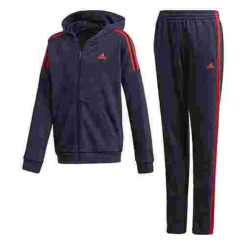 adidas Trainingsanzug Trainingsanzug Kinder Legend Ink / Scarlet