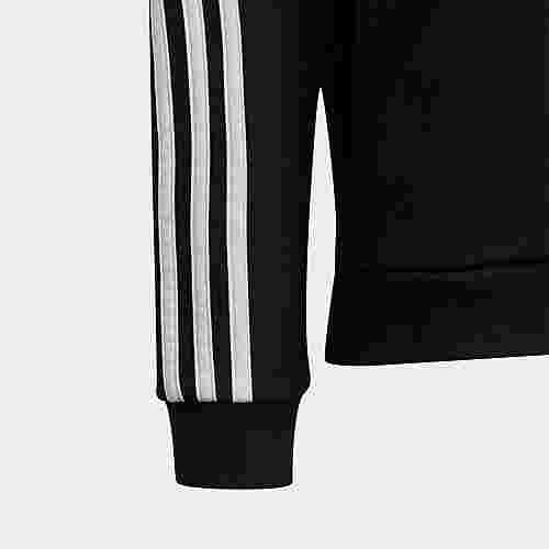 adidas 3-Streifen Kapuzenjacke Sweatjacke Kinder Black / White