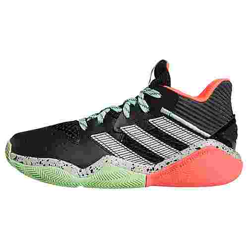 adidas Harden Stepback Basketballschuh Sneaker Kinder Core Black / Grey Two / Glory Mint