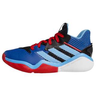 adidas Harden Stepback Basketballschuh Sneaker Kinder Core Black / Team Light Blue / Collegiate Royal