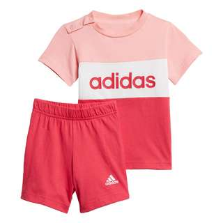 adidas Colorblock Set Trainingsanzug Kinder Glow Pink / Power Pink / White