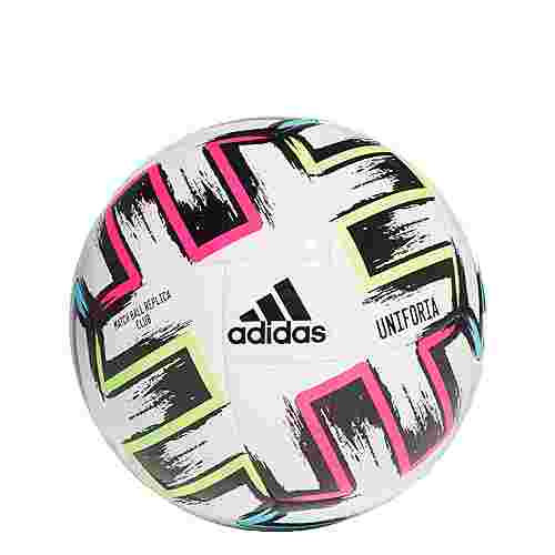 adidas Ekstraklasa Club Ball Fußball Herren White / Black / Signal Green / Bright Cyan