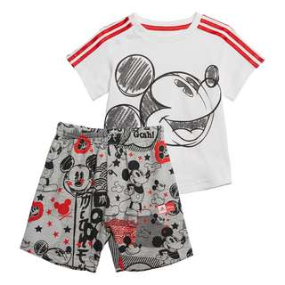 adidas Mickey Mouse Sommer-Set Trainingsanzug Kinder White / Vivid Red