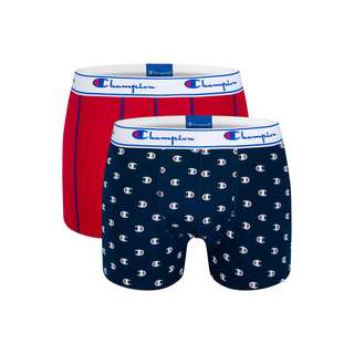 CHAMPION Authentic Boxer Herren navy logo print/red