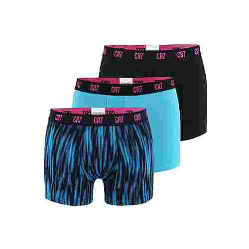 CR7 Cristiano Ronaldo CR7 Underwear Boxer Herren Schwarz/Türkis/Pink