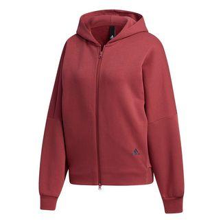 adidas 3-Streifen Wording Kapuzenjacke Trainingsjacke Damen Rot