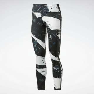 Reebok Workout Ready Printed Leggings Tights Damen Schwarz