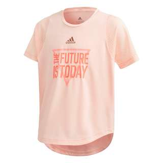 adidas The Future Today AEROREADY T-Shirt T-Shirt Kinder Haze Coral / Signal Pink / Copper Metallic / Coral