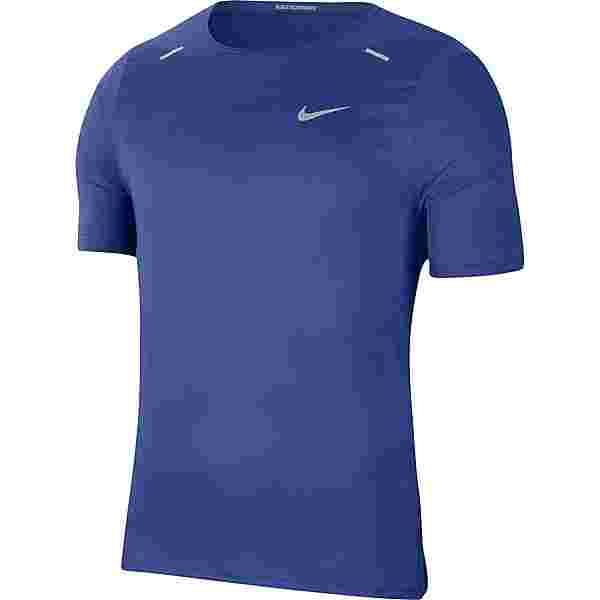 Nike Breath Rise 365 Funktionsshirt Herren astronomy blue-reflective silv