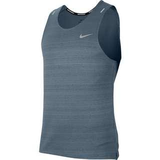 Nike Dry Fit Miler Funktionstank Herren ozone blue-reflective silv