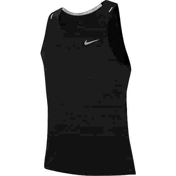 Nike Dry Fit Miler Funktionstank Herren black-reflective silv