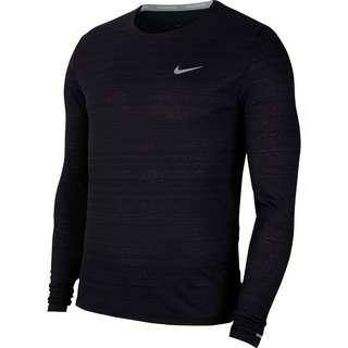 Nike Dry Fit Miler Funktionsshirt Herren black-reflective silv