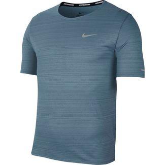 Nike Dry Fit Miler Funktionsshirt Herren ozone blue-reflective silv