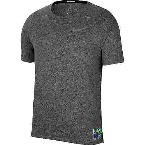 Nike Rise 365 Funktionsshirt Herren dk grey heather-reflective silv