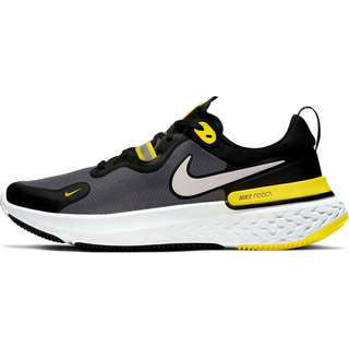 Nike REACT MILER Laufschuhe Herren black-white-opti yellow-dark grey