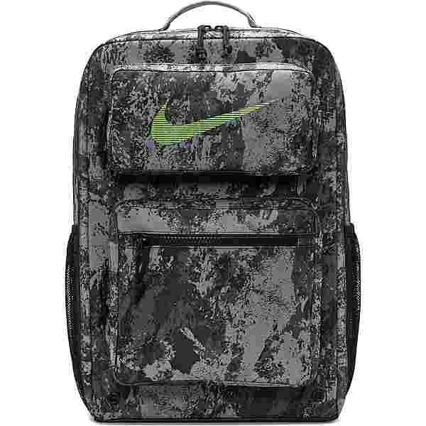 Nike Rucksack Utility Speed Bkpk-Gfx Aop Daypack particle grey-black-lime blast