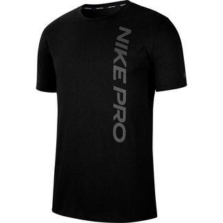 Nike Pro Burnout Funktionsshirt Herren black-smoke grey