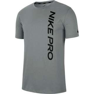 Nike Pro Burnout Funktionsshirt Herren particle grey-black