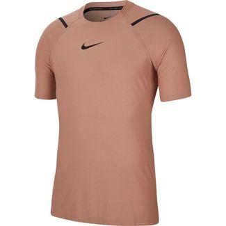 Nike Pro Funktionsshirt Herren desert dust-htr-black
