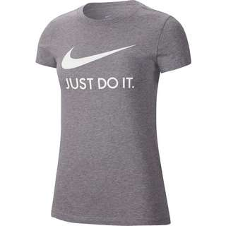 Nike NSW T-Shirt Damen dk grey heather-white