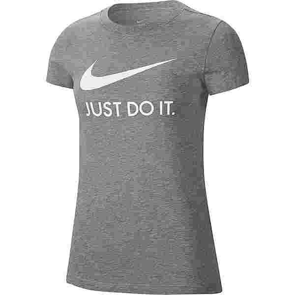 Nike NSW T-Shirt Damen dk grey heather-white