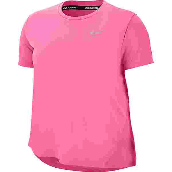 Nike Plus Size Funktionsshirt Damen pink glow-reflective silv