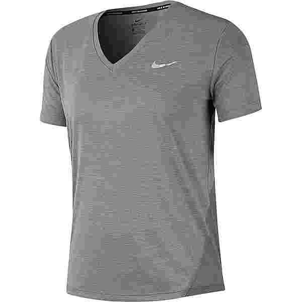 Nike Miler Funktionsshirt Damen gunsmoke-atmosphere grey-reflective silv