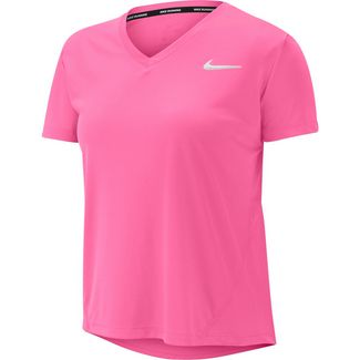 Nike Miler Funktionsshirt Damen pink glow-reflective silv