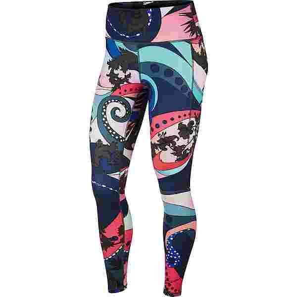 Nike Lauftights Damen hyper pink-black-white