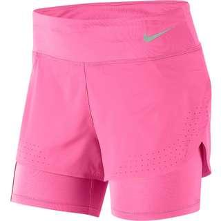 Nike Eclipse Laufshorts Damen pink glow-reflective silv