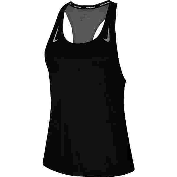 Nike Miler Funktionstank Damen black-reflective silv