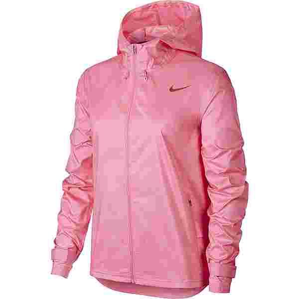 Nike Essential Laufjacke Damen pink glow-firewood orange