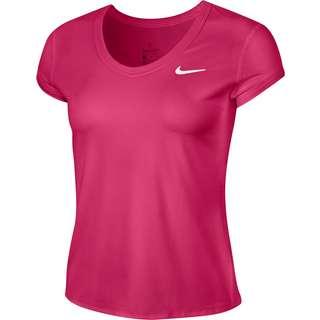 Nike W NKCT DRY TOP SS Tennisshirt Damen vivid pink-white