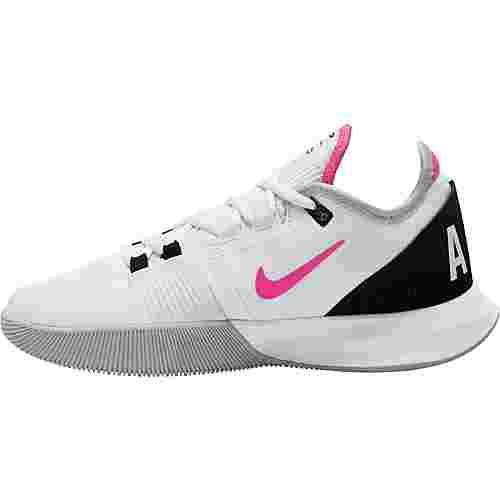 Nike Court Air Max Wildcard Tennisschuhe Damen white-laser fuchsia-grey fog-black