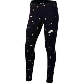 Nike Favorites Leggings Kinder black-white-lt smoke grey