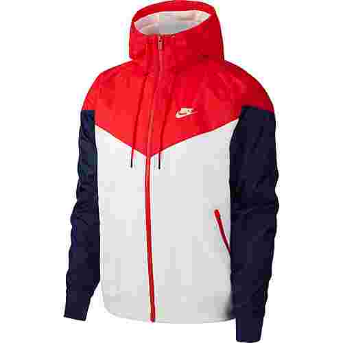 Nike Windrunner Kapuzenjacke Herren white/university red/midnight navy/white
