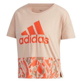 adidas adidas U4U Cropped T-Shirt T-Shirt Damen Ash Pearl / Raw Amber