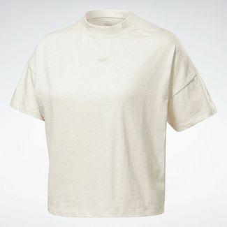 Reebok LES MILLS® Texture T-Shirt Funktionsshirt Damen Beige
