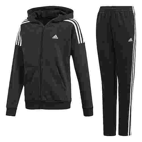 adidas Trainingsanzug Trainingsanzug Kinder Black / White