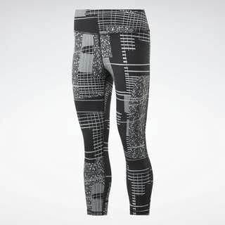 Reebok Lux 3/4 Deconstructed 2 Tight Tights Damen Black / Cold Grey 2