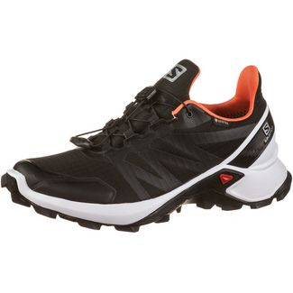 Salomon GTX® Supercross Trailrunning Schuhe Damen black-white-living coral
