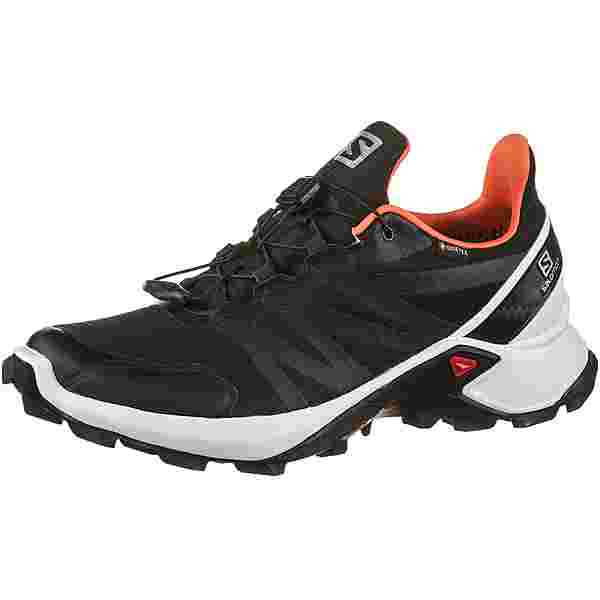 Salomon GTX Supercross Trailrunning Schuhe Damen black-white-living coral