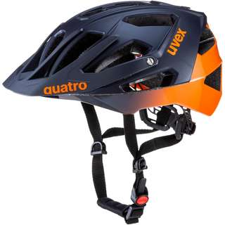 Uvex Quatro Fahrradhelm blue orange mat