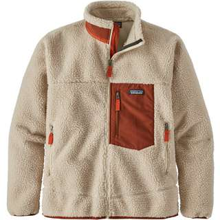 Patagonia Classic Retro-X Fleecejacke Herren natural w/barn red