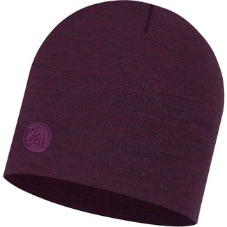 BUFF Merino Heavyweight Beanie purplish multi stripes