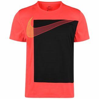 Nike Superset Trainingsshirt Herren neonrot / schwarz