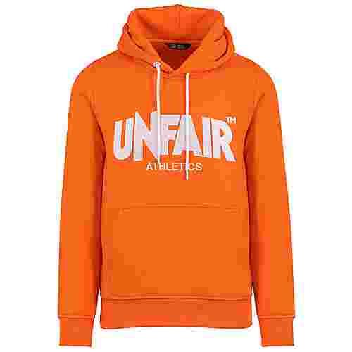 Unfair Athletics Unfair Classic Label Hoodie Herren orange / weiß