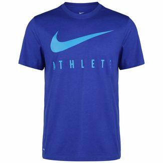 Nike Swoosh Athlete Camo Trainingsshirt Herren blau / hellblau